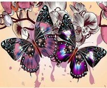Purple Butterfly 5D DIY Paint By Diamond Kit - Paint by Diamond