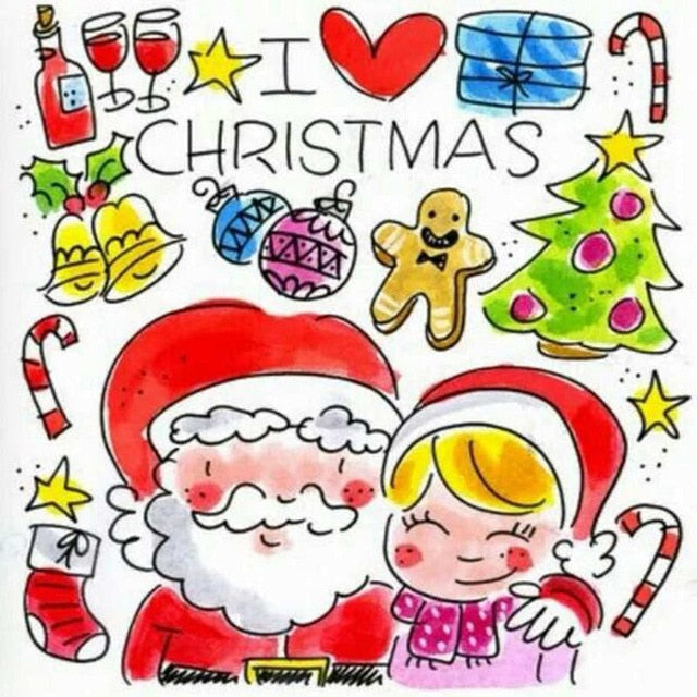 I Love Christmas Paint By Diamond Kit - Paint by Diamond