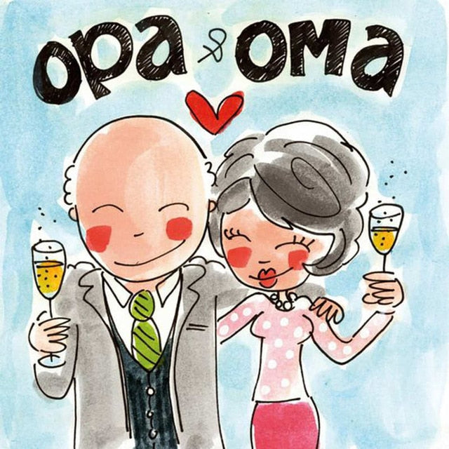 Opa And Oma Paint By Diamond Kit - Paint by Diamond