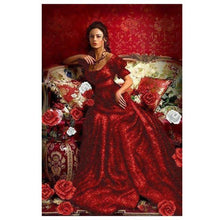 Woman In Red 5D DIY Paint By Diamond Kit - Paint by Diamond