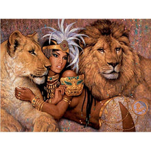 People & Lion 5D DIY Paint By Diamond Kit - Paint by Diamond