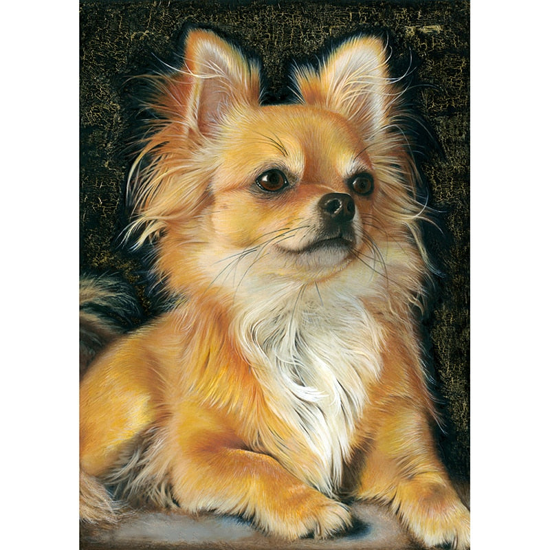 Little Yellow Dog 5D DIY Paint By Diamond Kit