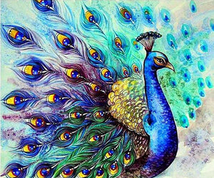 Peacock Animals 5D DIY Paint By Diamond Kit