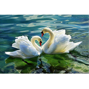 Swans In Love Paint By Diamond Kit - Paint by Diamond