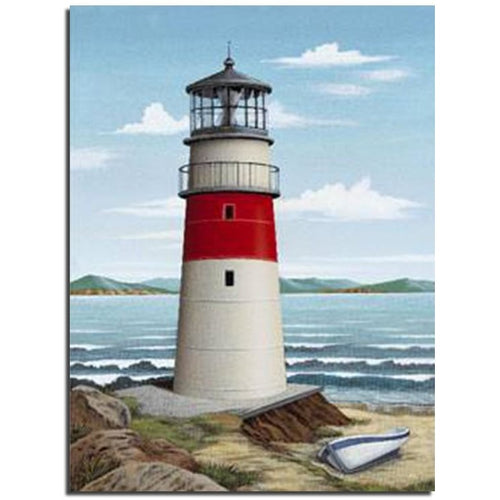 Beach Lighthouse 5D DIY Paint By Diamond Kit - Paint by Diamond