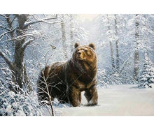 Snow Forest Bear 5D DIY Paint By Diamond Kit