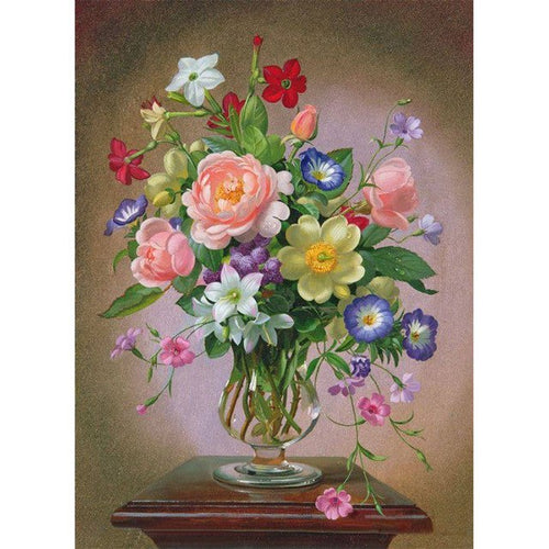 Elegant Victorian Flower Vase 5D DIY Paint By Diamond Kit