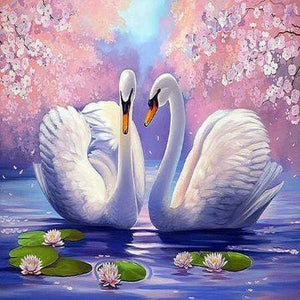 Swans At Ease 5D DIY Paint By Diamond Kit - Paint by Diamond