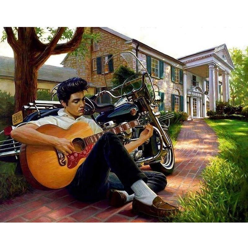 Colorful Guitar Boy 5D DIY Paint By Diamond Kit
