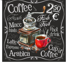 Coffee Price AD Board 5D DIY Paint By Diamond Kit