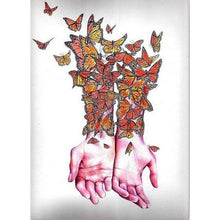Butterfly Girl Hands 5D DIY Paint By Diamond Kit - Paint by Diamond