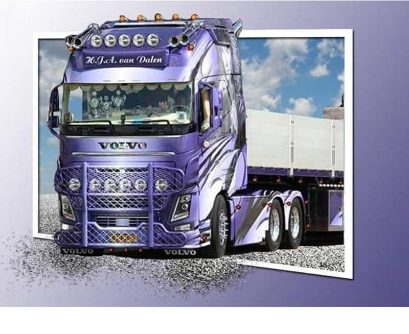 Purple Truck 5D DIY Paint By Diamond Kit