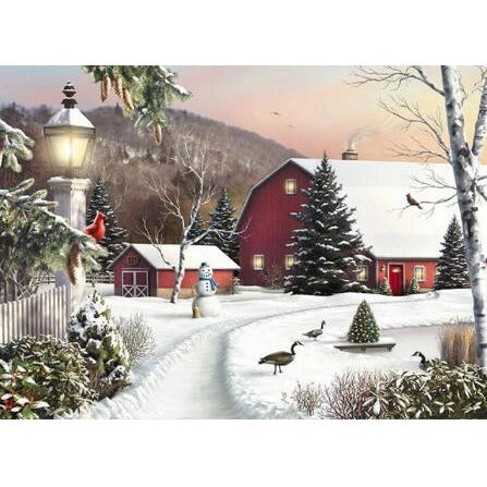 Winter By The Countryside 5D DIY Paint By Diamond Kit - Paint by Diamond