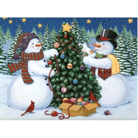 Snowmen Christmas Tree 5D DIY Paint By Diamond Kit - Paint by Diamond