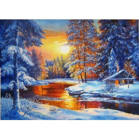 Winter Lake 5D DIY Paint By Diamond Kit - Paint by Diamond