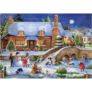 Scenic Winter Town 5D DIY Paint By Diamond Kit - Paint by Diamond