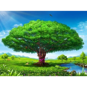Big Tree 5D DIY Paint By Diamond Kit - Paint by Diamond