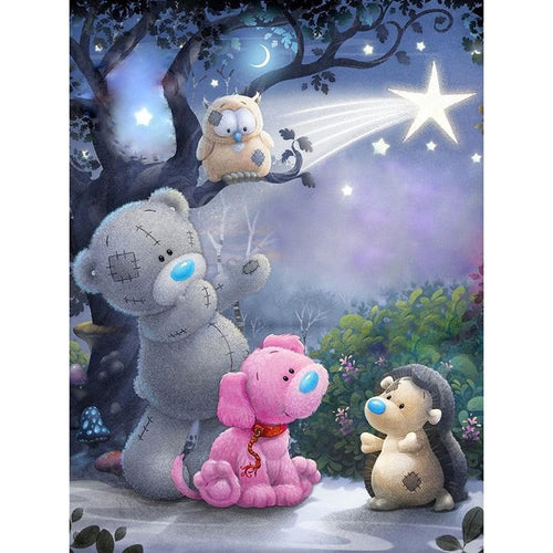 Cartoon Bear & Friends 5D DIY Paint By Diamond Kit - Paint by Diamond