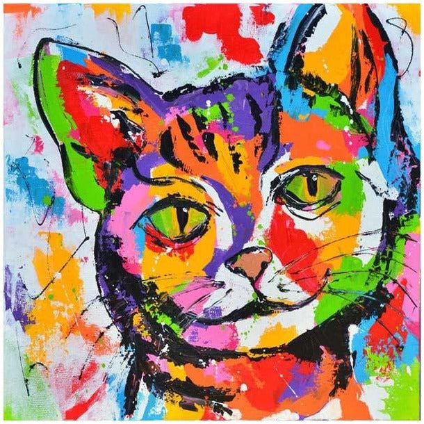 Colorful Kitten Painting - 5D DIY Paint By Diamond Kit - Paint by Diamond