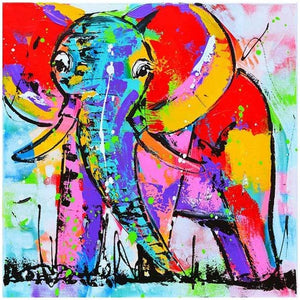 Colorful Gigantic Elephant 5D DIY Paint By Diamond Kit - Paint by Diamond