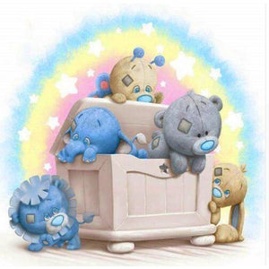 Cartoon Bear In Box 5D DIY Paint By Diamond Kit - Paint by Diamond