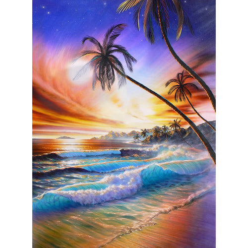 Beach Scenery 5D DIY Paint By Diamond Kit
