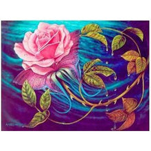 Mosaic Pink Rose Sea 5D DIY Paint By Diamond Kit - Paint by Diamond