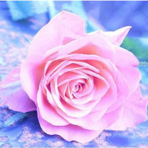 Fluorescent Flower Pink Rose 5D DIY Paint By Diamond Kit - Paint by Diamond