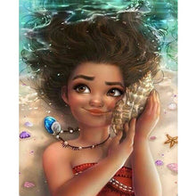 Cartoon Beach Girl 5D DIY Paint By Diamond Kit