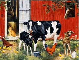 Farm Animals 5D DIY Paint By Diamond Kit