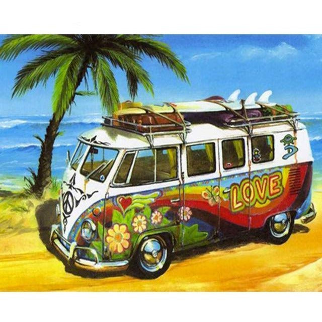 Boho Van  5D DIY Paint By Diamond Kit - Paint by Diamond