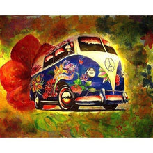 Seaside Beetle Bus 5D DIY Paint By Diamond Kit - Paint by Diamond