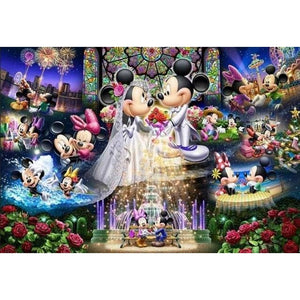 Mickey And Minnie Mouse Life 5D DIY Paint By Diamond Kit - Paint by Diamond