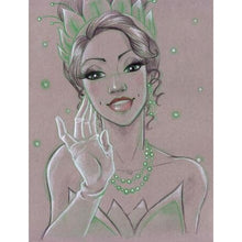 Green Light Pretty Girl 5D DIY Paint By Diamond Kit - Paint by Diamond