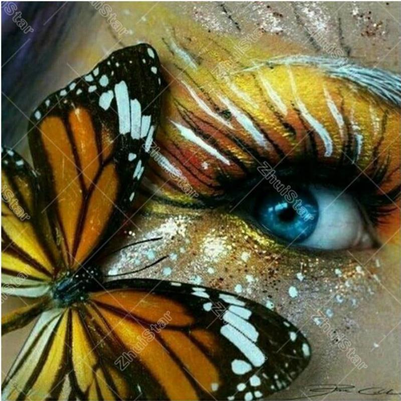 Butterfly on the Eye 5D DIY Paint By Diamond Kit