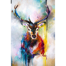 Colored Deer 5D DIY Paint By Diamond Kit