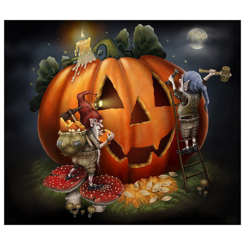 Halloween cartoon 5D DIY Paint By Diamond Kit - Paint by Diamond