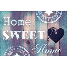 Home Sweet Home Purple 5D DIY Paint By Diamond Kit - Paint by Diamond