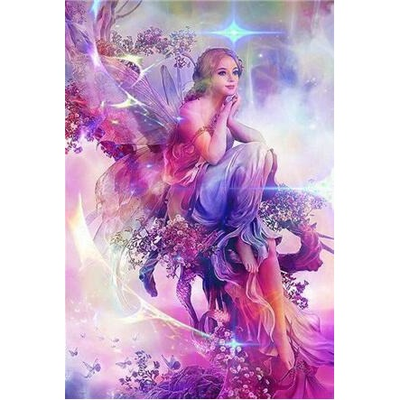 Purple Beautiful Fairy 5D DIY Paint By Diamond Kit - Paint by Diamond