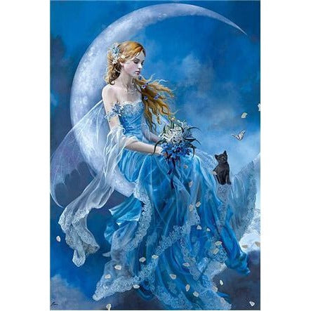 Blue Moon Angel 5D DIY Paint By Diamond Kit - Paint by Diamond