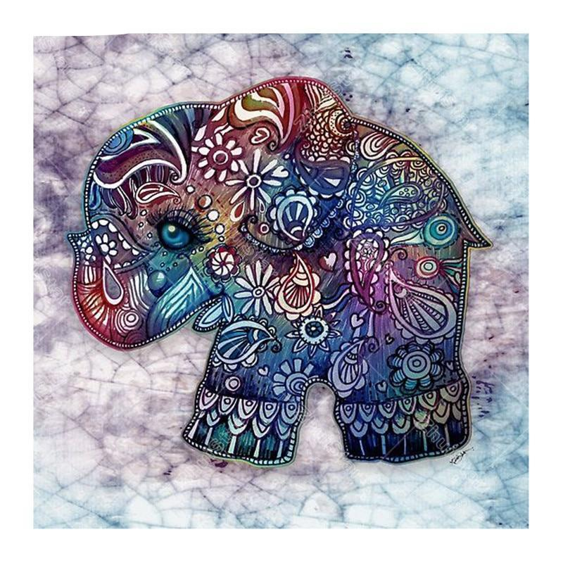 Elephant Embroidery 5D DIY Paint By Diamond Kit - Paint by Diamond