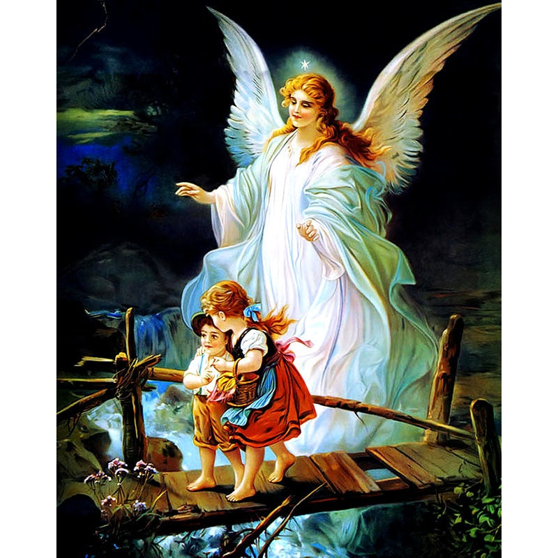 Angel & Children 5D DIY Paint By Diamond Kit