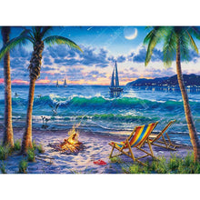 Night Beach 5D DIY Paint By Diamond Kit
