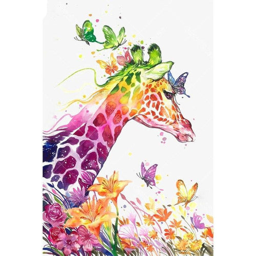 Colored giraffe 5D DIY Paint By Diamond Kit