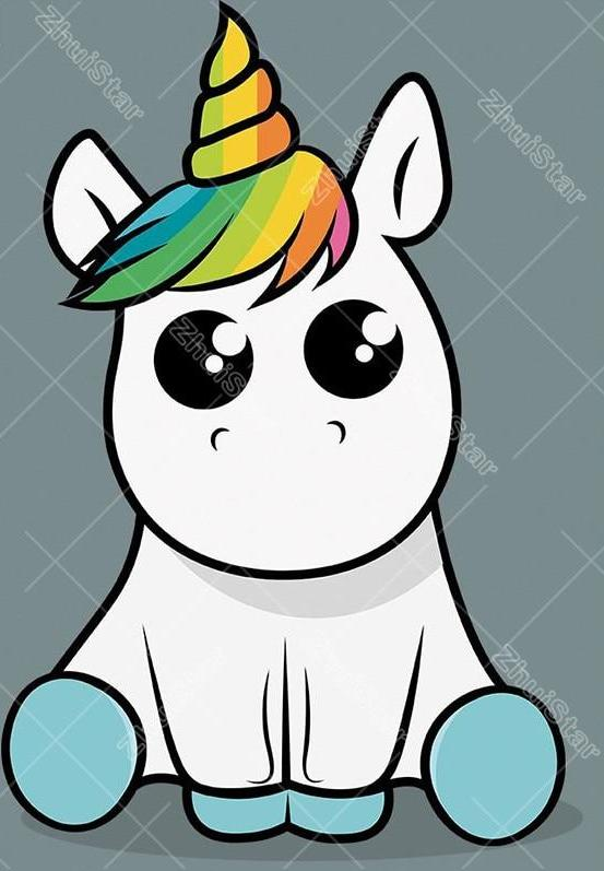 Cartoon Unicorn 5D DIY Paint By Diamond Kit
