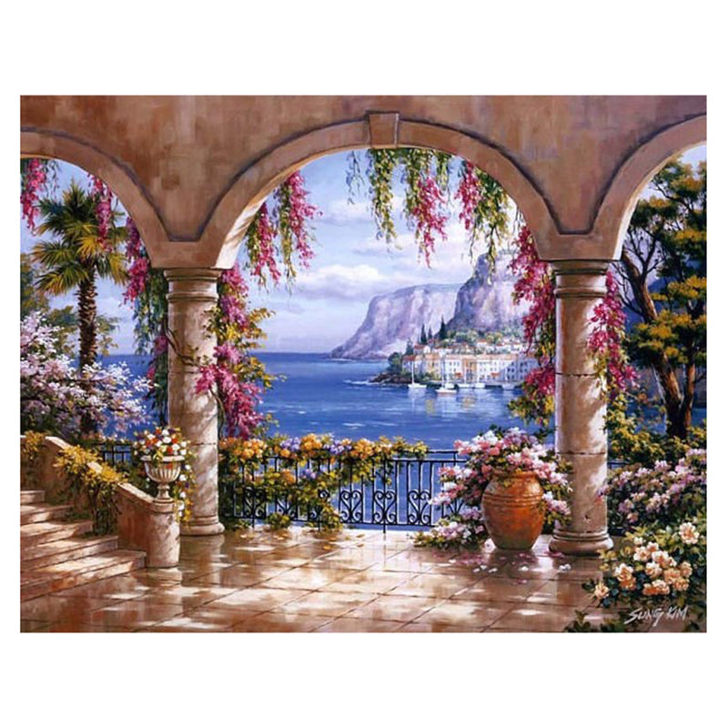 Seaside Scenery 5D DIY Paint By Diamond Kit - Paint by Diamond