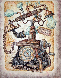 Steampunk Phone 5D DIY Paint By Diamond Kit