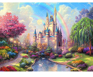 Cartoon Castle 5D DIY Paint By Diamond Kit