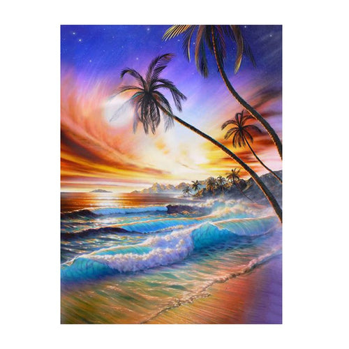 Scenic Sunset by The Beach 5D DIY Diamond Painting