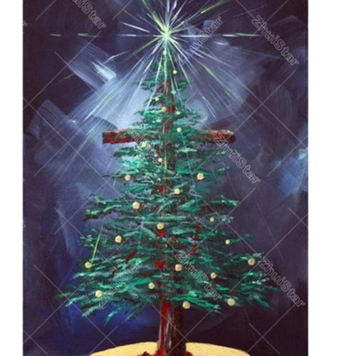 Christmas Tree & Star 5D DIY Paint By Diamond Kit